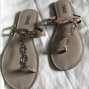 Carlos Santana flat sandals